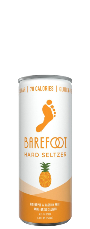 BAREFOOT HARD SELTZER PINEAPPLE & PASSIONFRUIT