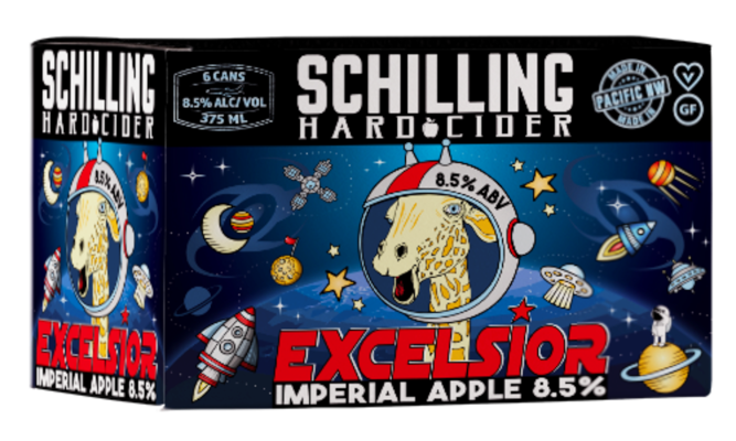 SCHILLING HARD CIDER EXCELSIOR IMPERIAL APPLE