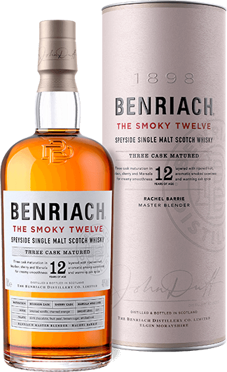 BENRIACH 12 YR SCOTCH THE SMOKY TWELVE