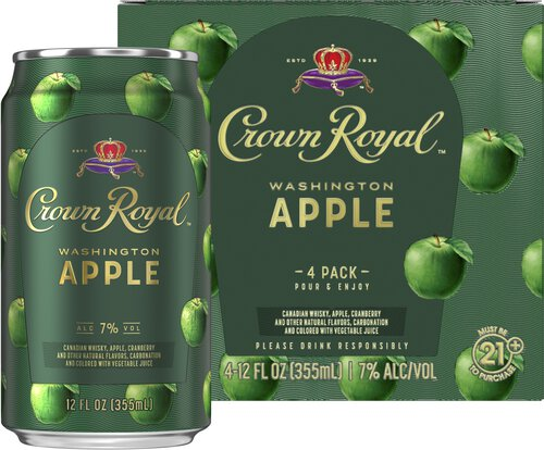 CROWN ROYAL WASHINGTON APPLE 4 PK