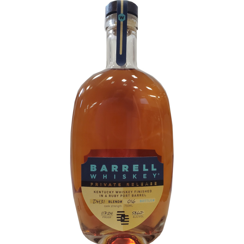 BARRELL WHISKEY PRIVATE RELEASE DH31 RUBY PORT BARREL