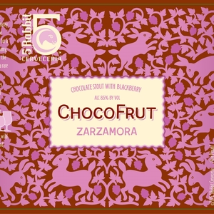 5 RABBIT CHOCOFRUT ZARZAMORA CHOCOLATE STOUT