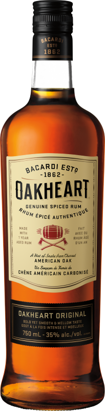 BACARDI OAKHEART SPICED GLASS