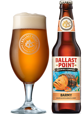 BALLAST POINT BARMY GOLDEN ALE
