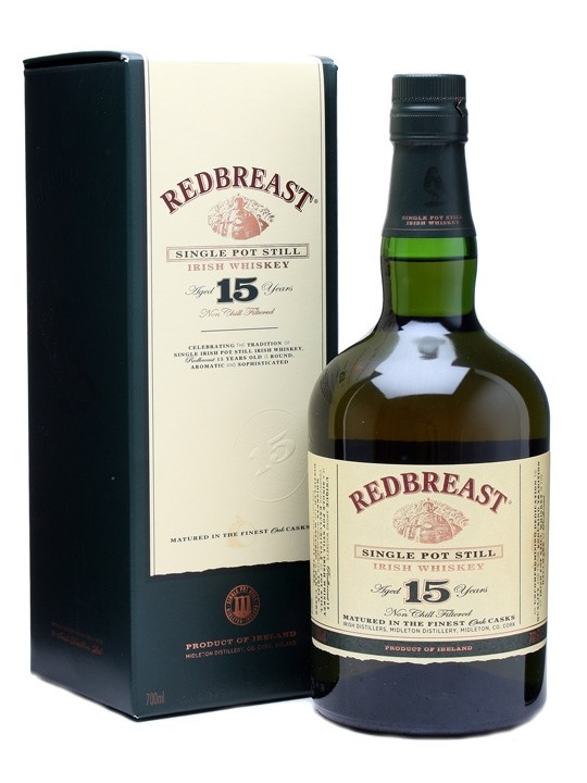 REDBREAST IRISH WHISKEY 15 YR