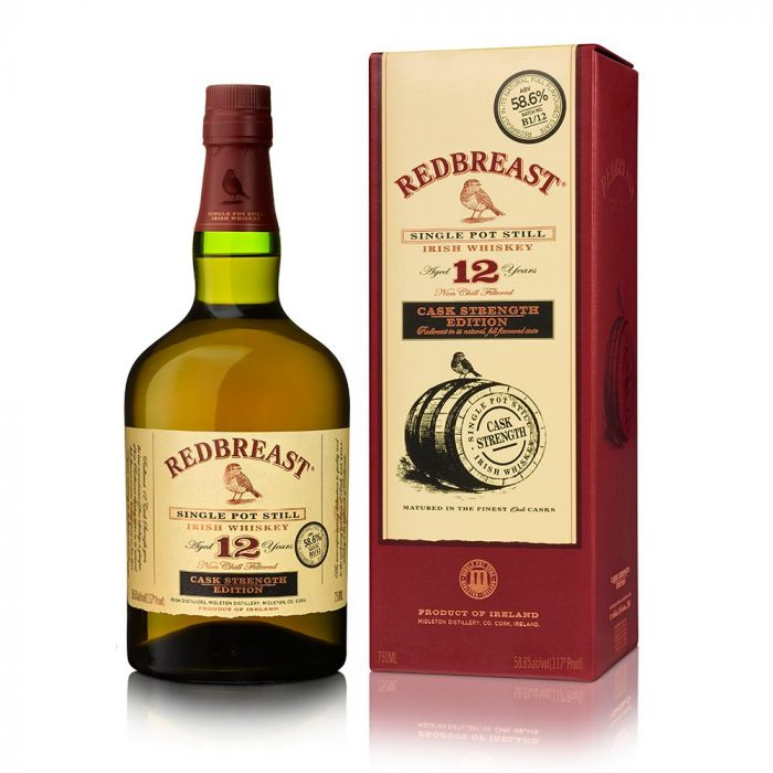 REDBREAST IRISH WHISKEY 12 YR CASK STRENGTH EDITION