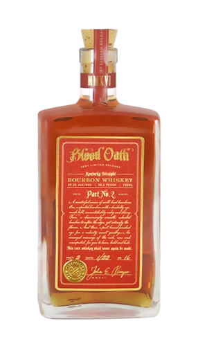 BLOOD OATH PACT NO. 2 KENTUCKY STRAIGHT BOURBON WHISKEY
