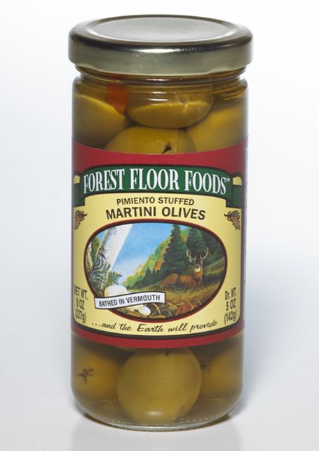 FOREST FLOOR MARTINI STUFFED OLIVES