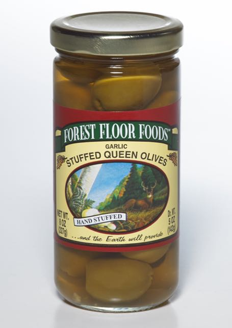 FOREST FLOOR GARLIC STUFFED OLIVES