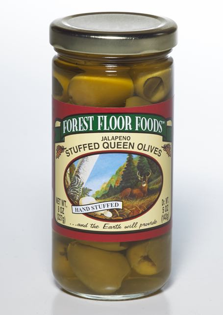 FOREST FLOOR JALAPENO STUFFED OLIVES