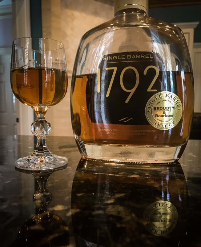 1792 SINGLE BARREL BROUDY BOTTLE