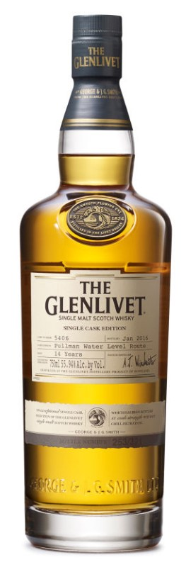 GLENLIVET SINGLE CASK EDITION PULLMAN WATER LEVEL ROUTE 14 YR