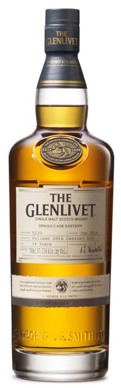 GLENLIVET SINGLE CASK EDITION PULLMAN 20 TH CENTURY LTD 14 YR