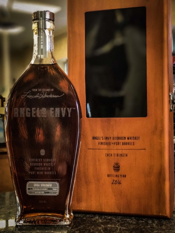 ANGELS ENVY CASK STRENGTH FINISHED IN PORT BARRELS