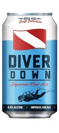 BREW HUB DIVER DOWN IMPERIAL RED ALE