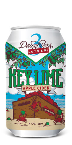 3 DAUGHTERS KEY LIME APPLE CIDER
