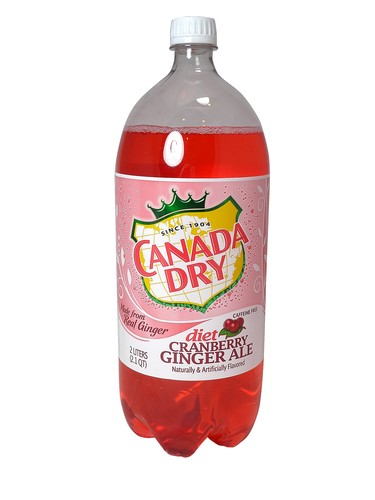 CANADA DRY GINGER ALE DIET CRANBERRY