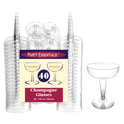 PARTY ESSENTIALS GLASSES CHAMPAGNE
