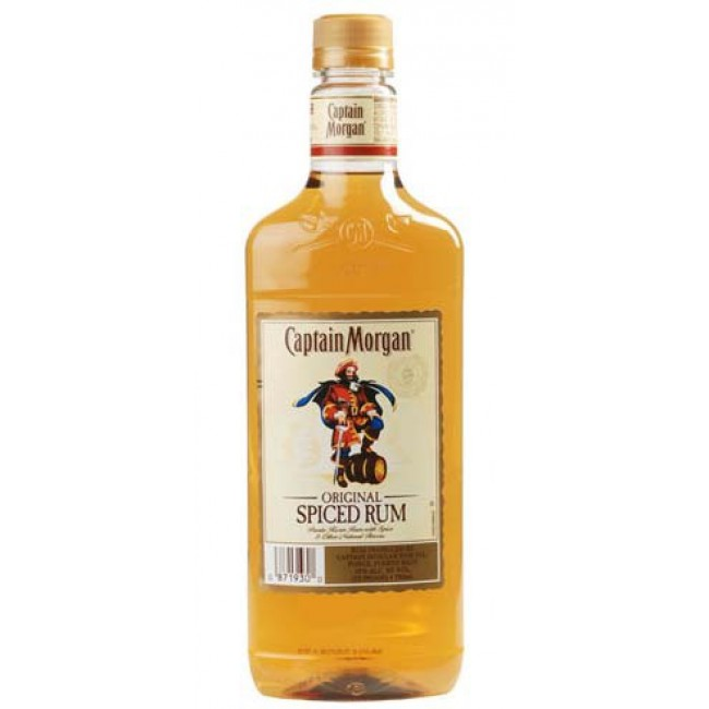 CAPTAIN MORGAN SPICED RUM PLASTIC