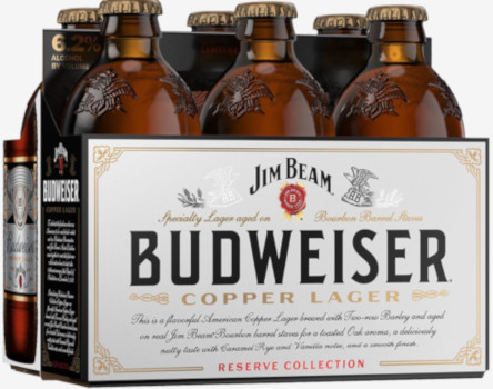 BUDWEISER JIM BEAM COPPER LAGER