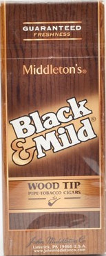 CIGAR BLACK & MILD WOOD TIP