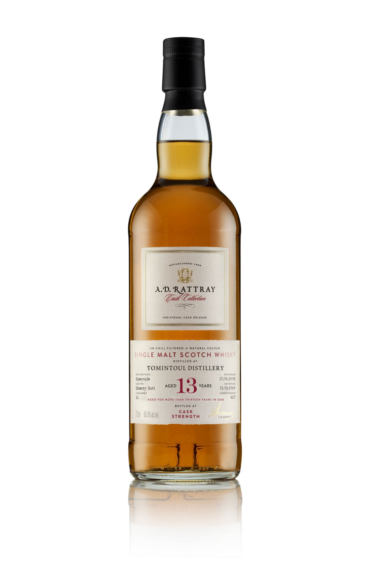 "A. D. RATTRAY CASK COLLECTION ""WILLIAMSON"" 13 YR"