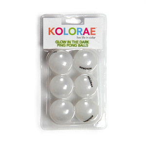 KOLORAE PING PONG BALLS GLOW IN THE DARK