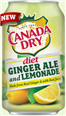 CANADA DRY GINGER ALE DIET LEMONADE